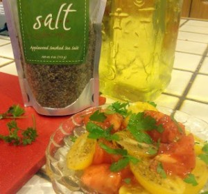 Applewood Smoked Sea Salt & Heirloom Tomatoes