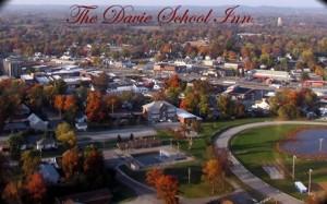 The Davie School Inn, small town America