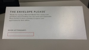 good job tip envelope