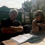 Scott & marilyn working