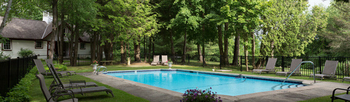 Photo of grounds at Berkshires MA inn for sale