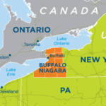 Buffalo-Niagara region map