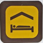 Motel bed sign