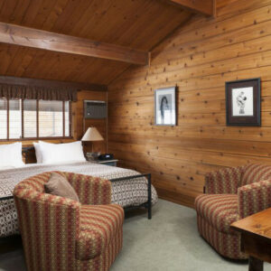 Photo of guestroom at Good Medicine Lodge Whitefish MT Inn