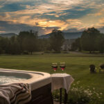 Hottub-and-Sunset-at-Stowe-VT-B&B-for-sale