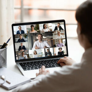 Stock photo of virtual business meeting